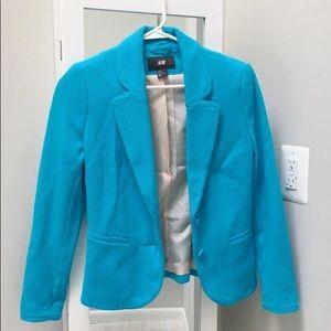 NWOT HM turquoise blazer fits 00, 0, 2